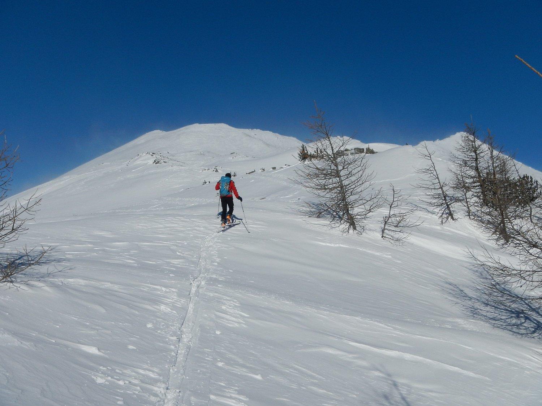la dorsale tra il Monte Morteret e la cima