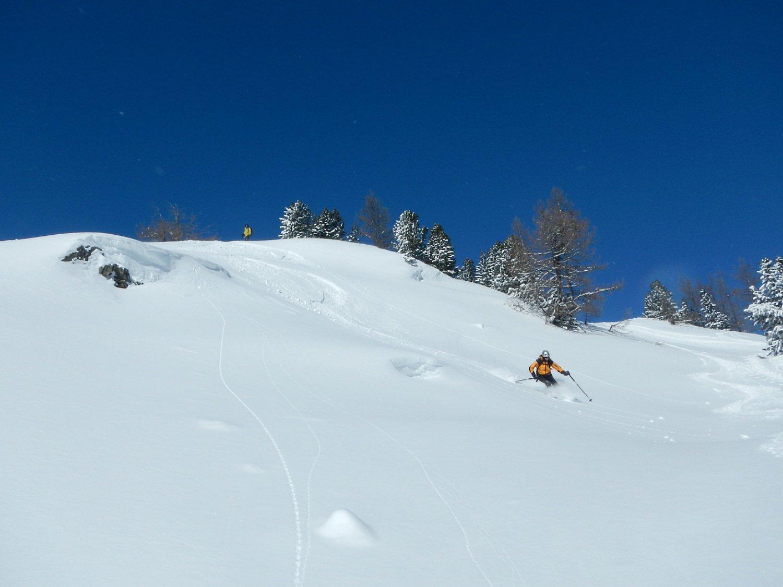 neve molto bella nel bosco