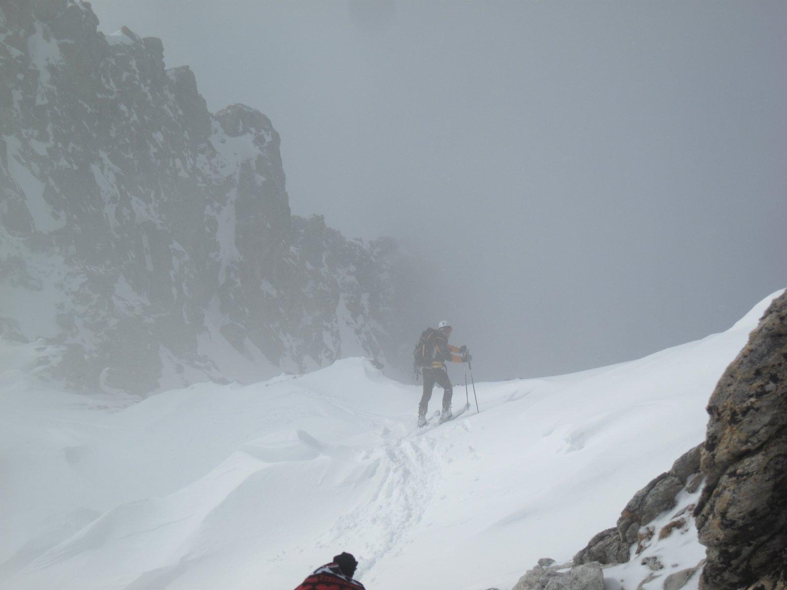 inizio discesa nella nebbia