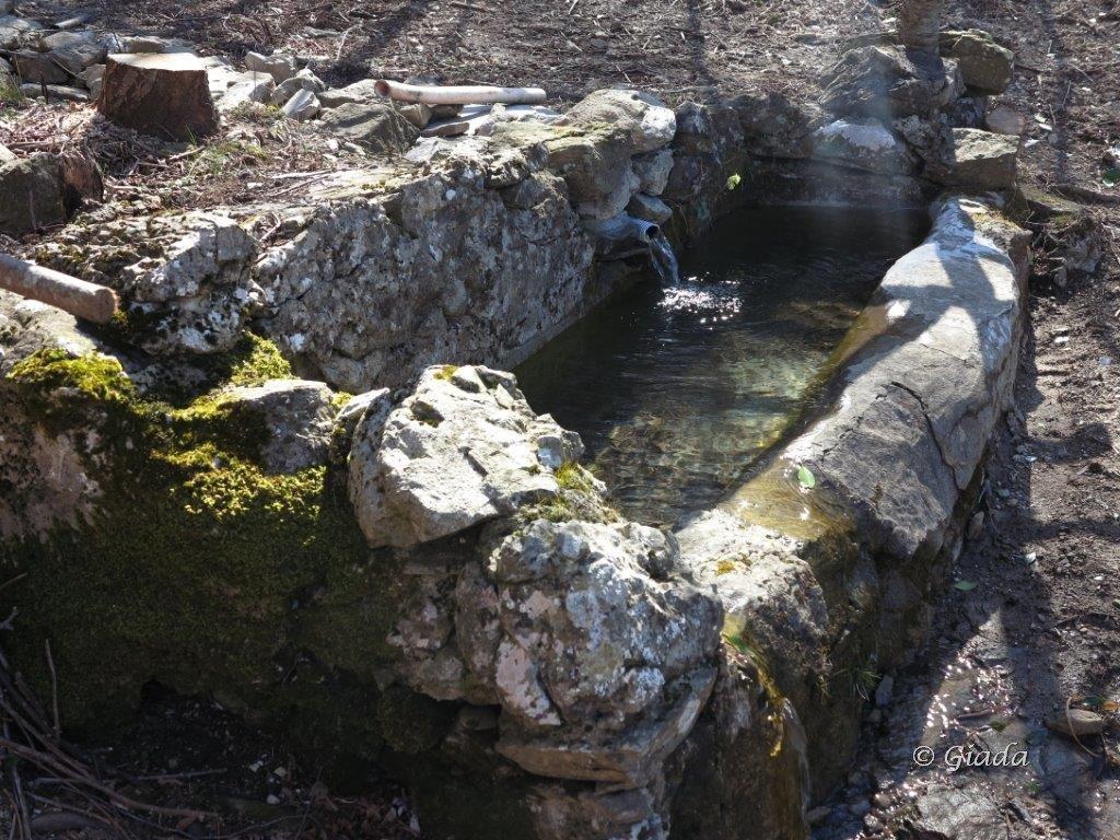 La fonte con vasca al Monte Nero