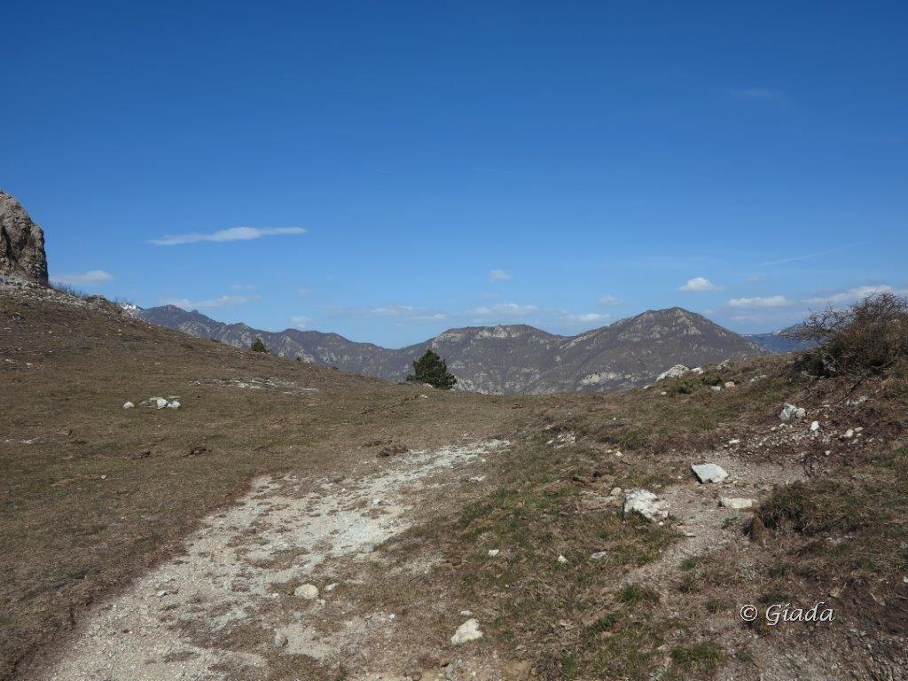 Il colle dove si imbocca il Sentiero dei Giganti