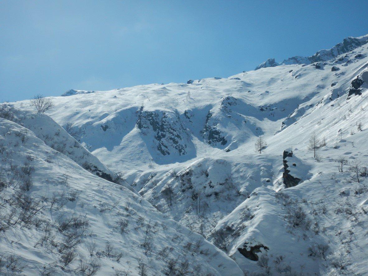 Il pendio visto dall'Alpe Vauzone
