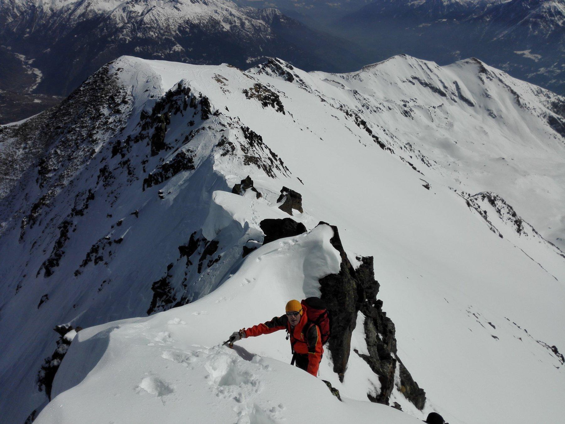 Fallère (Mont) da Flassin per Colle d'Ars 2016-03-12