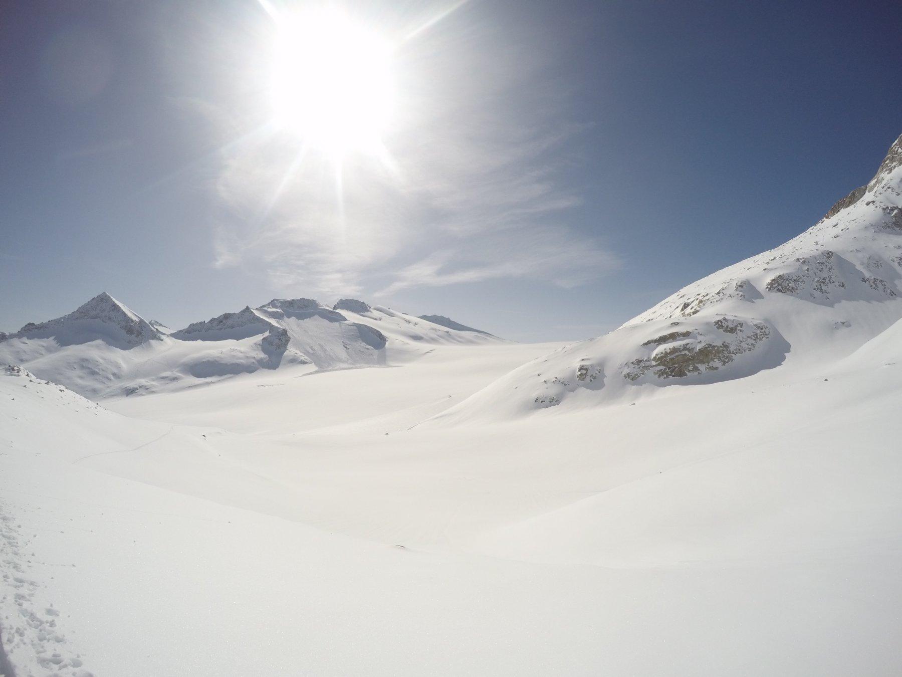 l'impressionante distacco : versante nord , quota 3300 circa , a dx del rifugio Lobbia