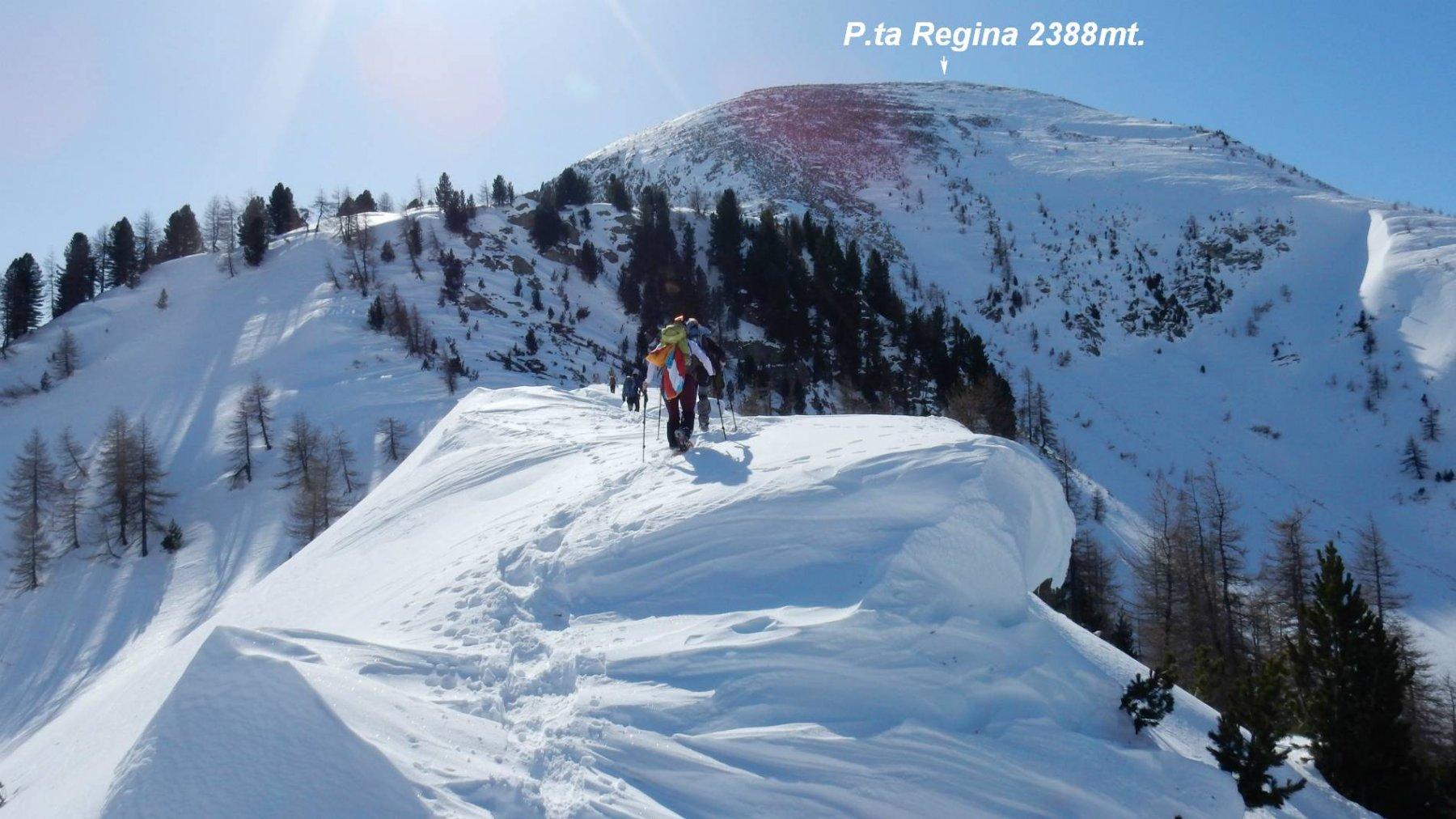 Sul primo tratto in cresta poco dopo il Colle della Ranzola.