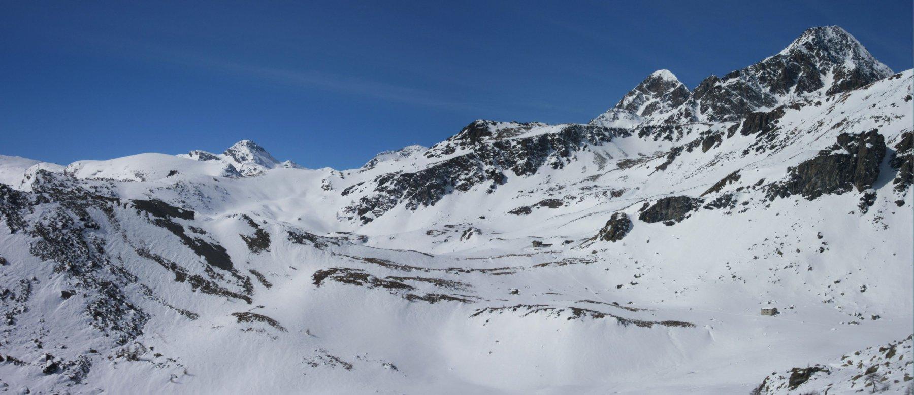 panorama verso il Glacier a sinistra