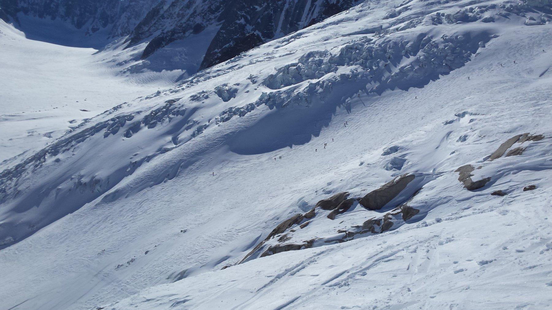 scendendo verso il ghiacciaio d'Argentière