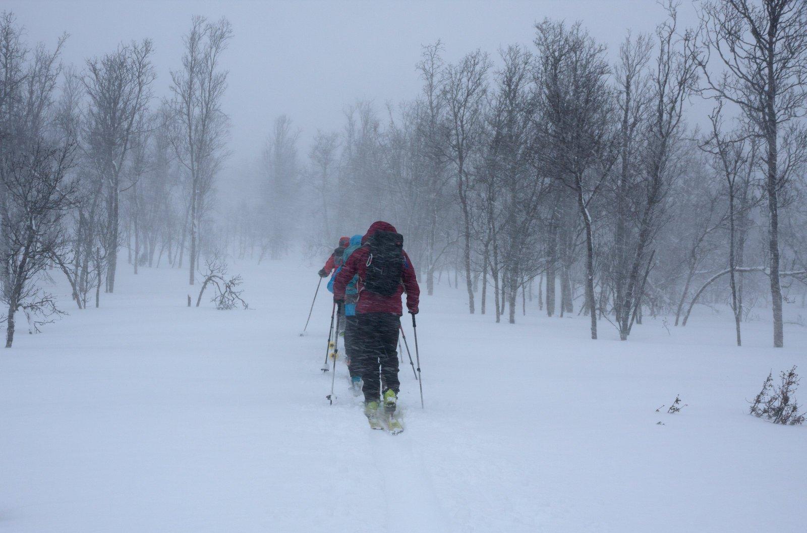 Partenza sotto la neve