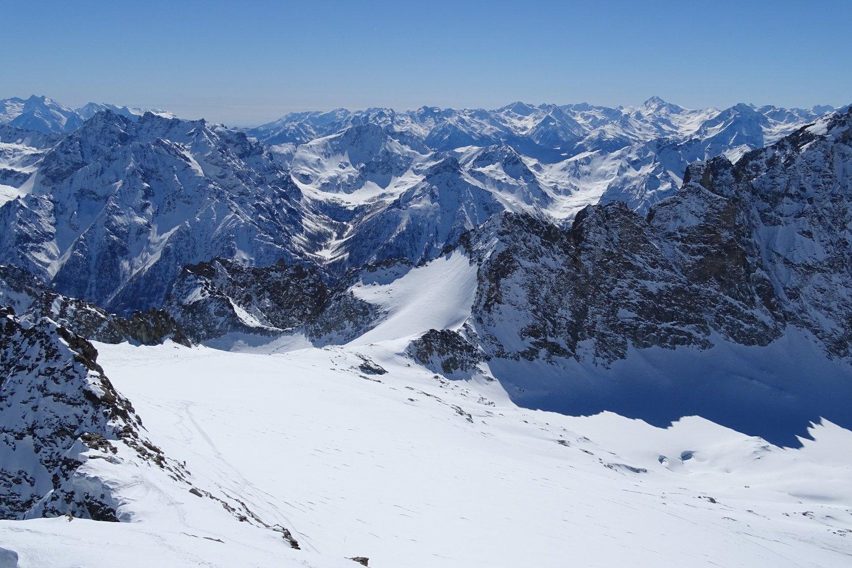 il Glacier du Mont Gelé dalla punta