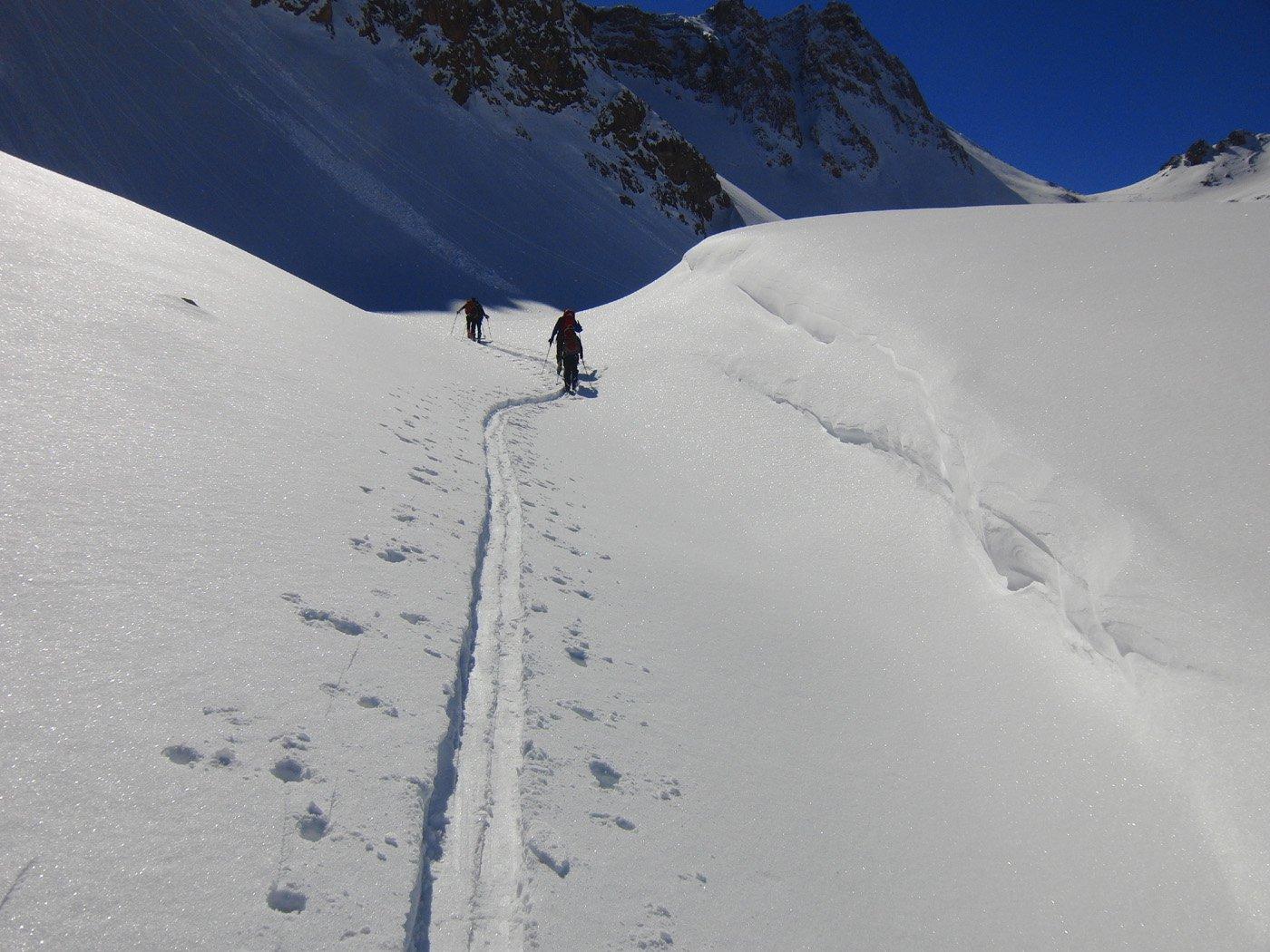 In vista del Col du Vallon