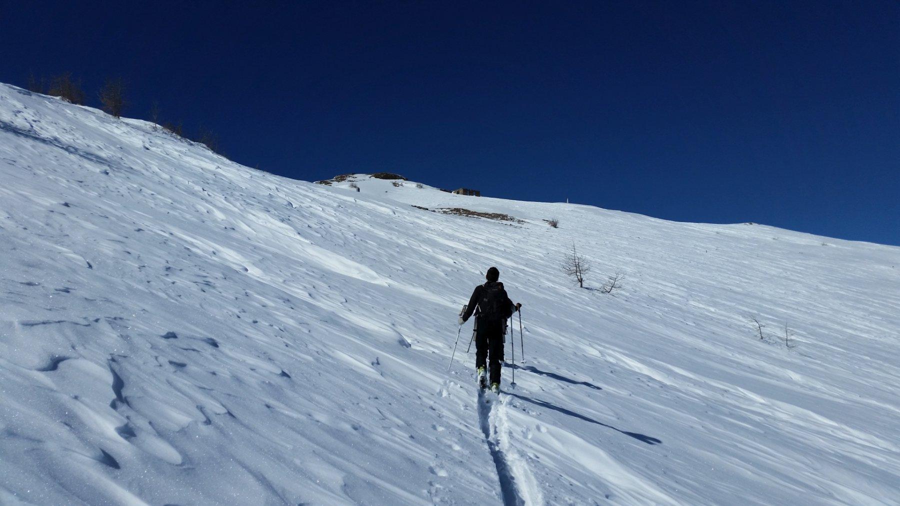 Neve ventata verso il Saccarello