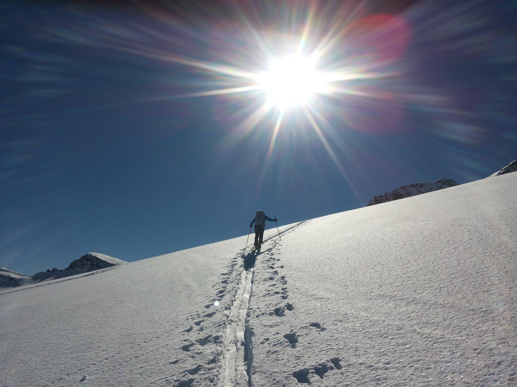 Salita sil ghiacciaio dello Scalino...oggi spazi x tutti