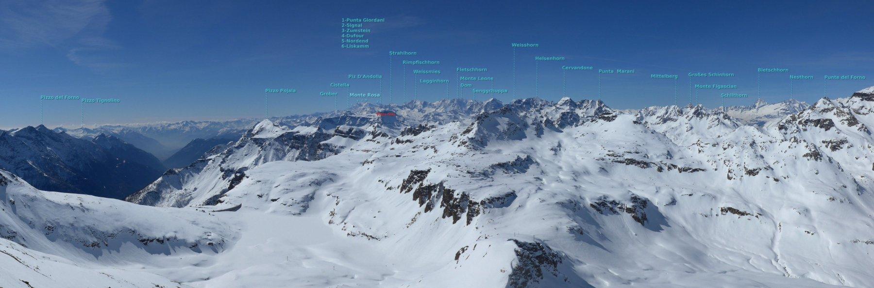 panoramica verso il Monte Rosa