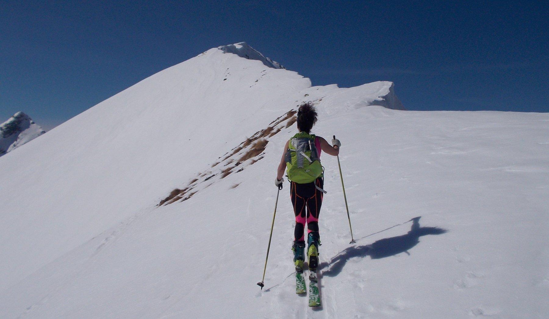 Sulla cresta del Monte Colombana
