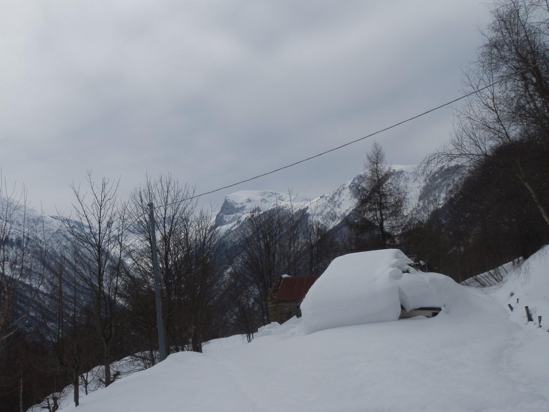 ..per farsi un'idea di quanta neve c'è..., siamo a quota 1350 circa
