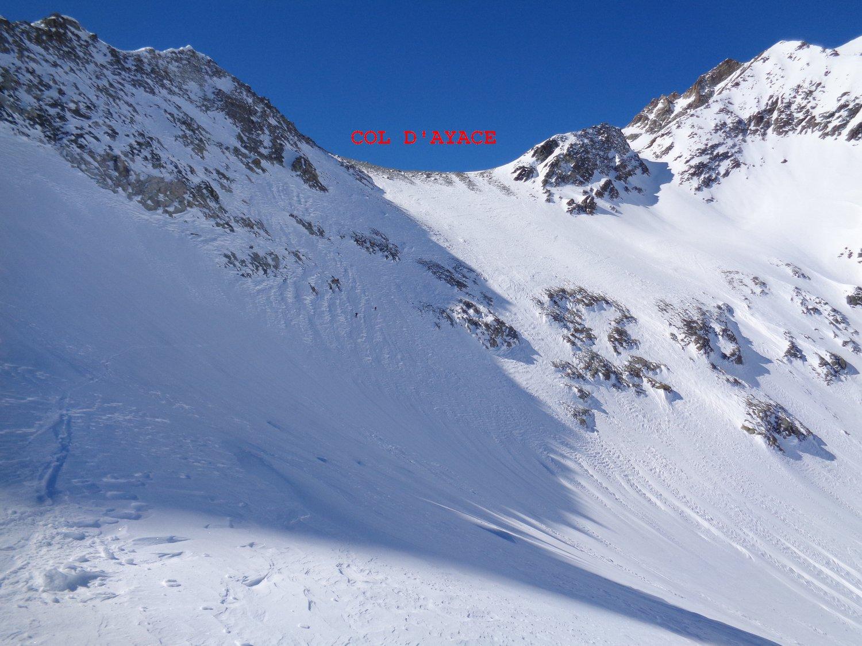 discesa lato svizzero col d'Ayace
