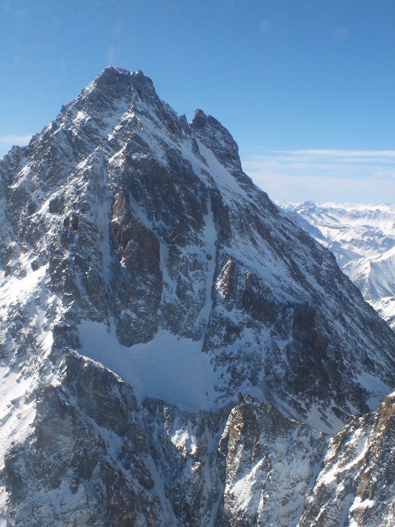 Parte centrale con ghiacciaio pensile