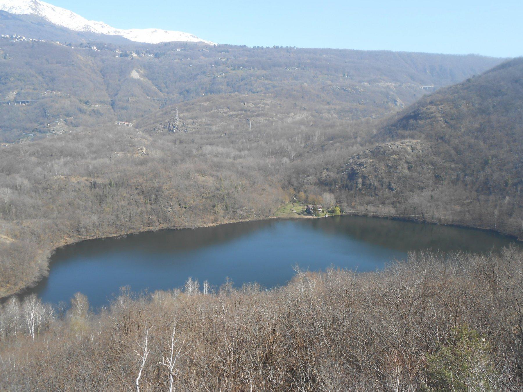 il Lago Nero dal Roc Tupin