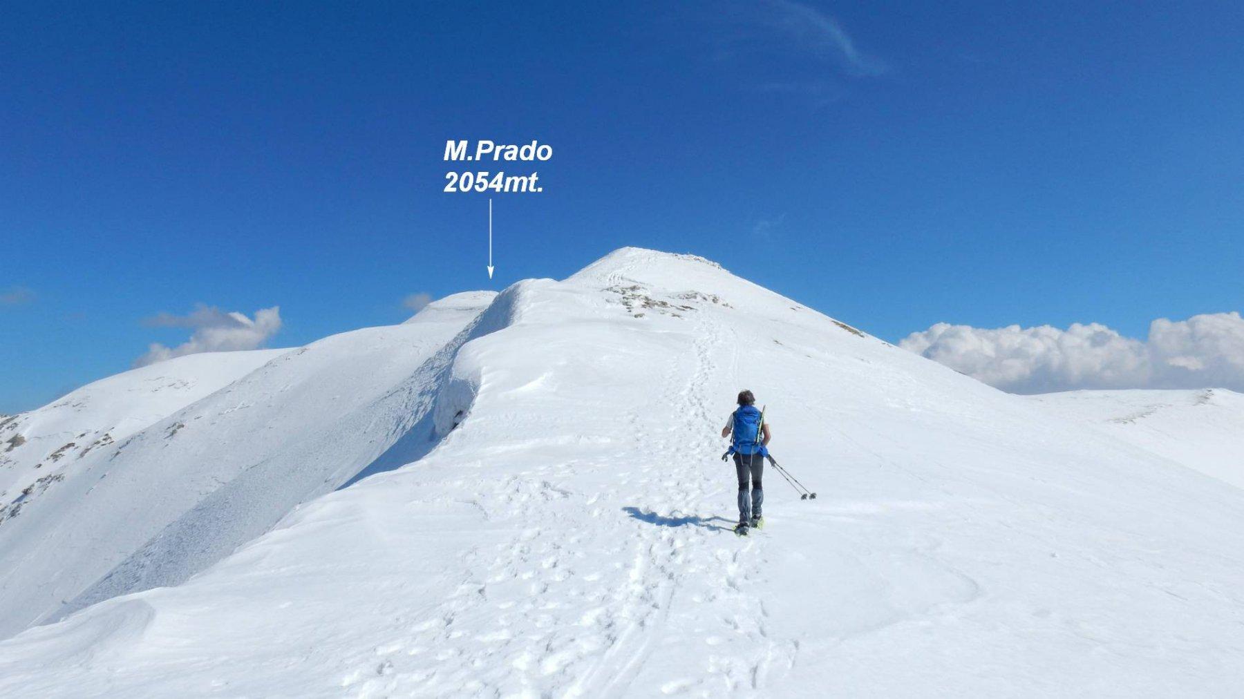 Giunti sulla dorsale di cresta procediamo verso la vetta.