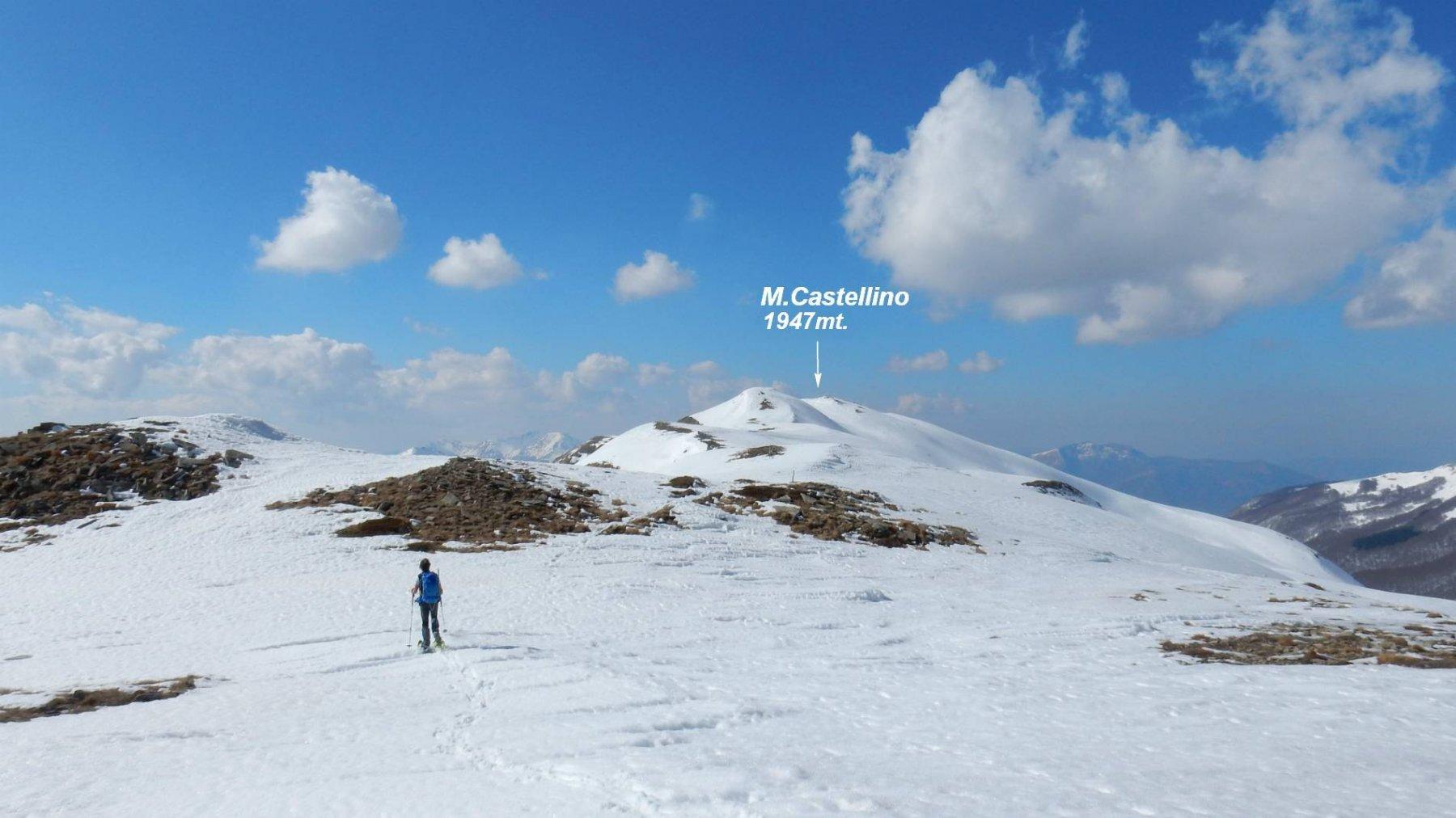 Sulla cresta verso il M.Castellino.