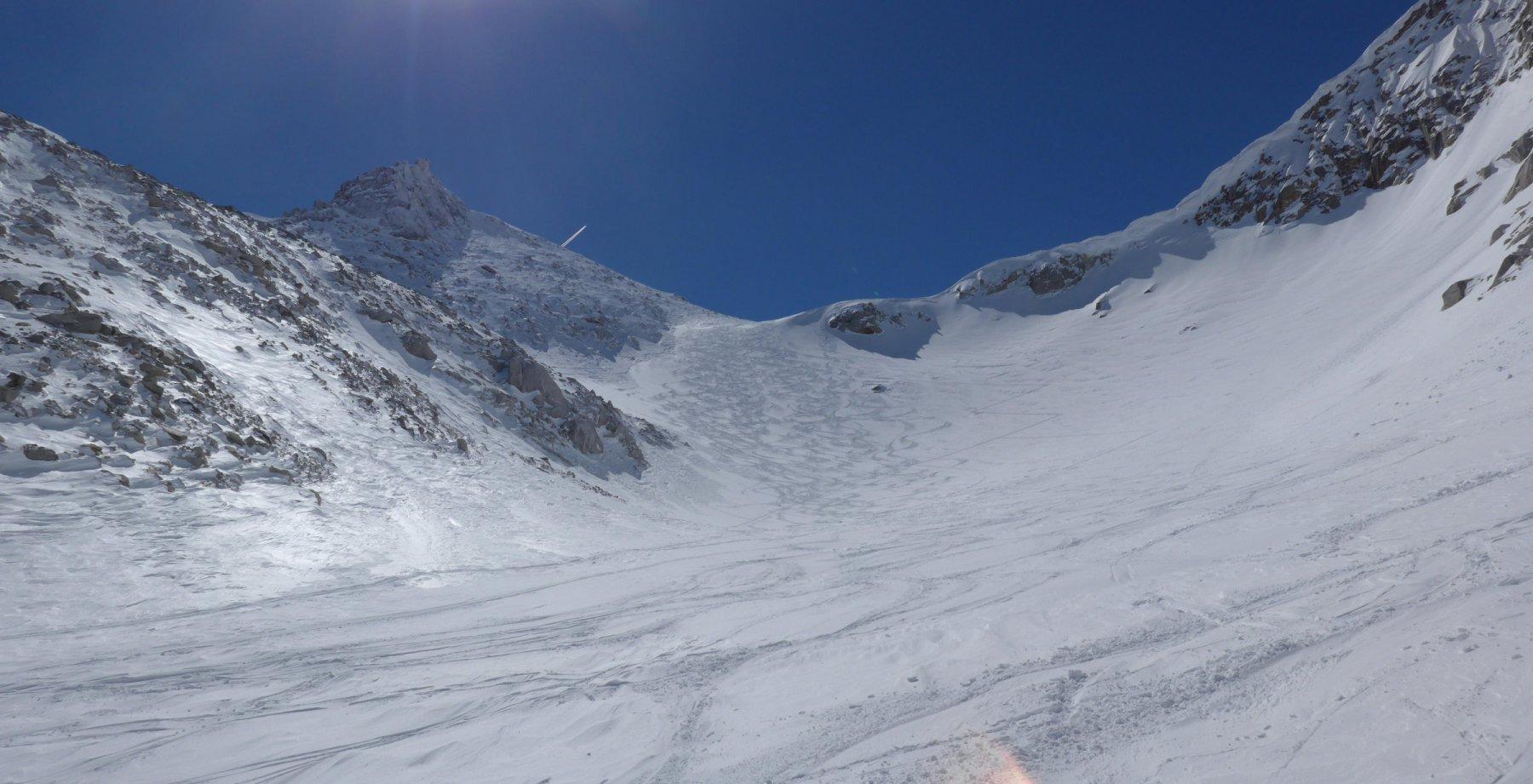neve asciutta nel primo pendio