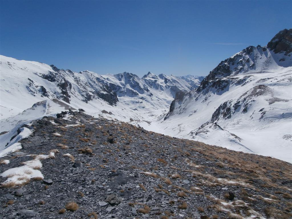 il lungo vallone del Maurin