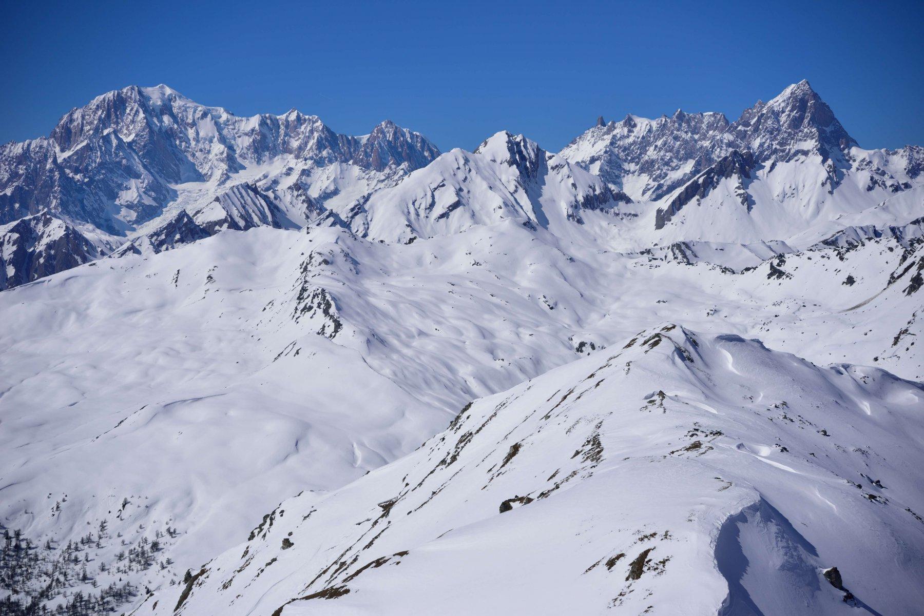 Panorama sul M.Bianco dalla vetta del M.Vertosan
