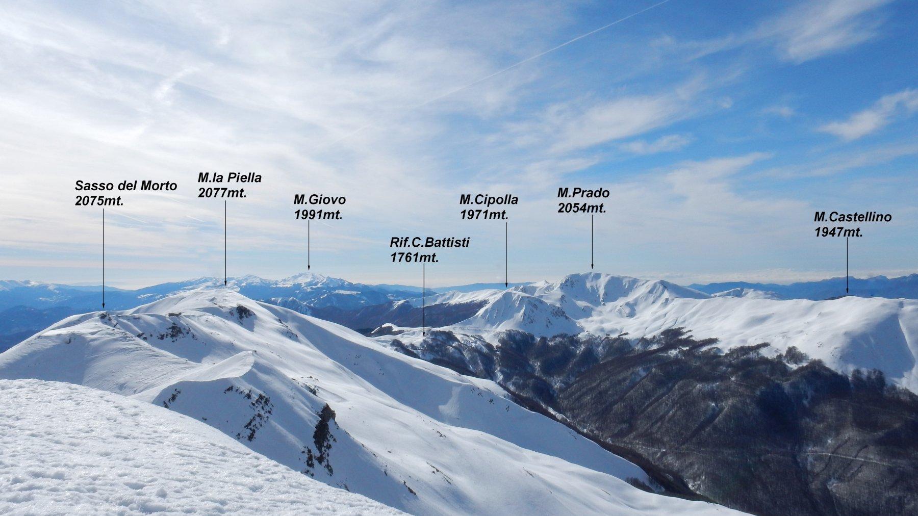 Panorama dalla vetta del M.Cusna.