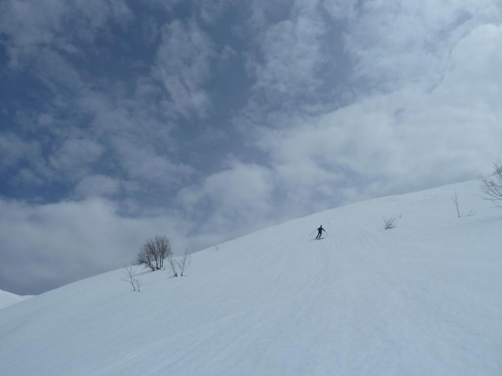 Più in basso neve morbida