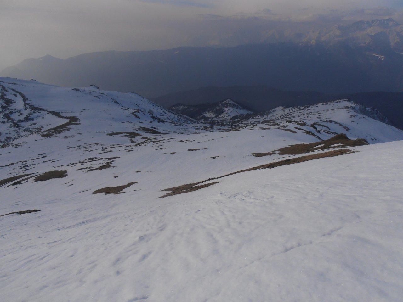 05 - condizioni versante sud punta Sbaron, lungo la dorsale neve continua