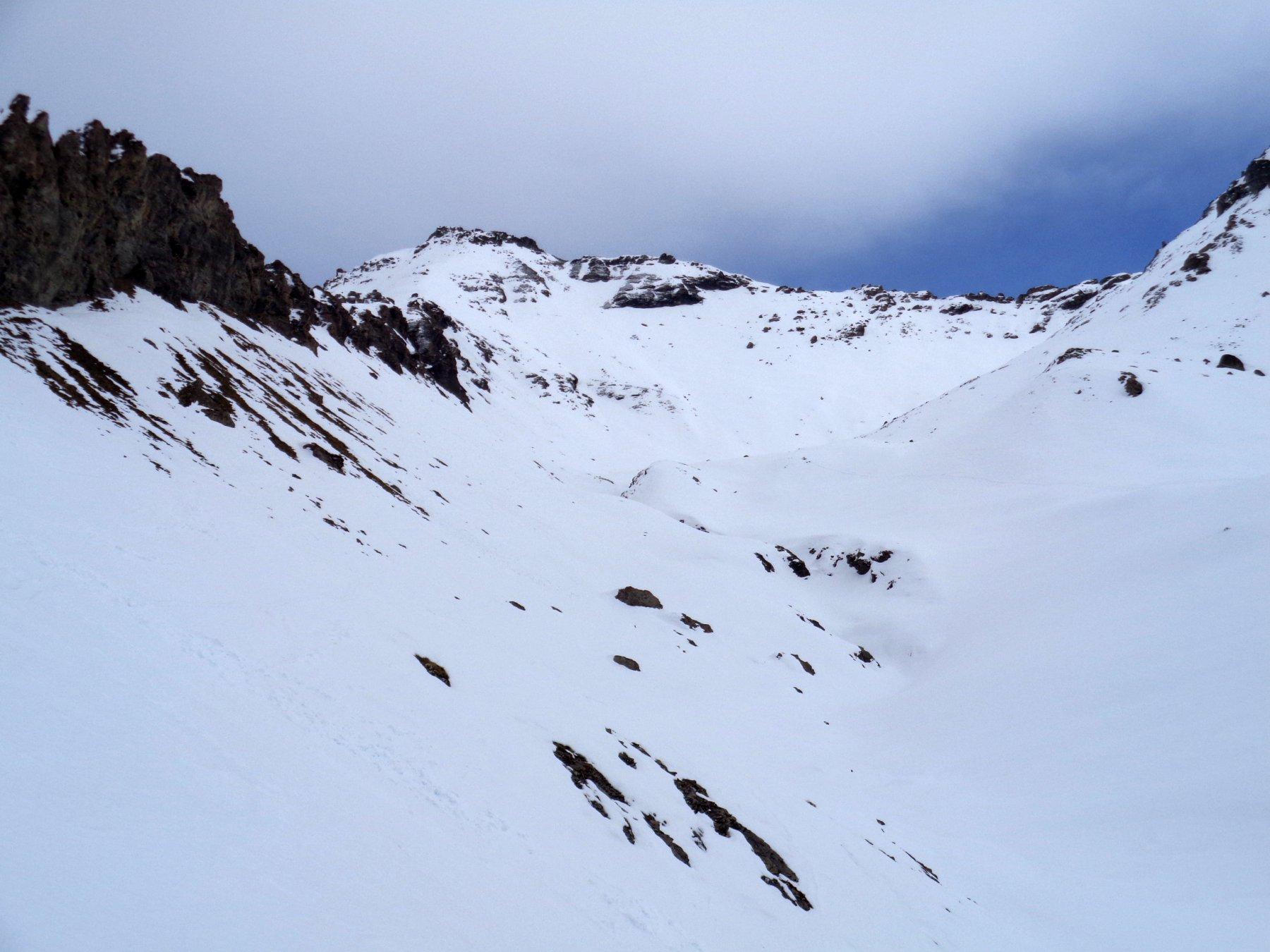 versante W visto dal vallone del Gran Muels