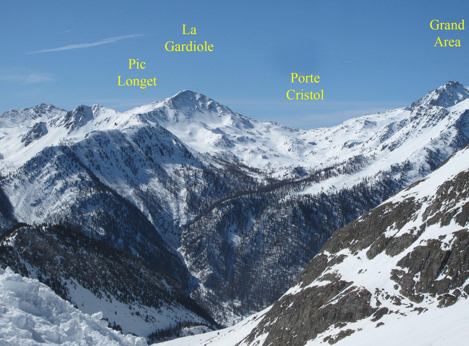 Il vallone del Cristol visto dalla Sommet rond la settimana scorsa