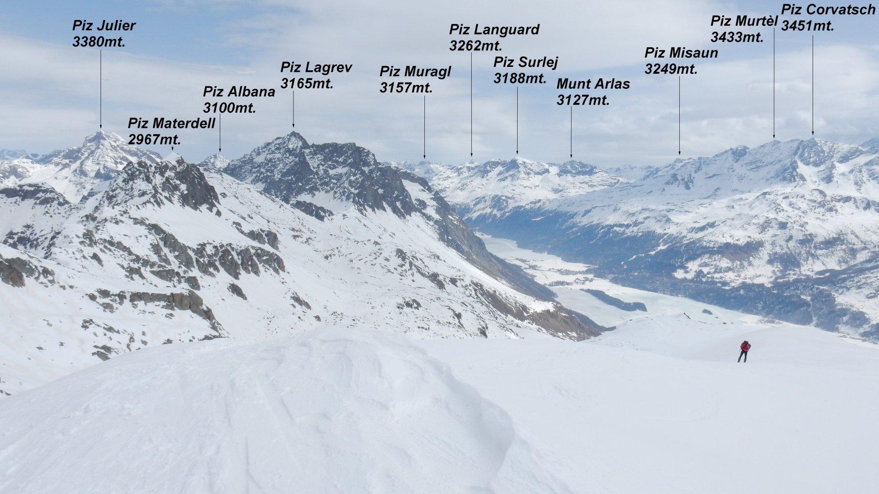 Panorama dalla vetta del Piz Grevasalvas 2932mt.