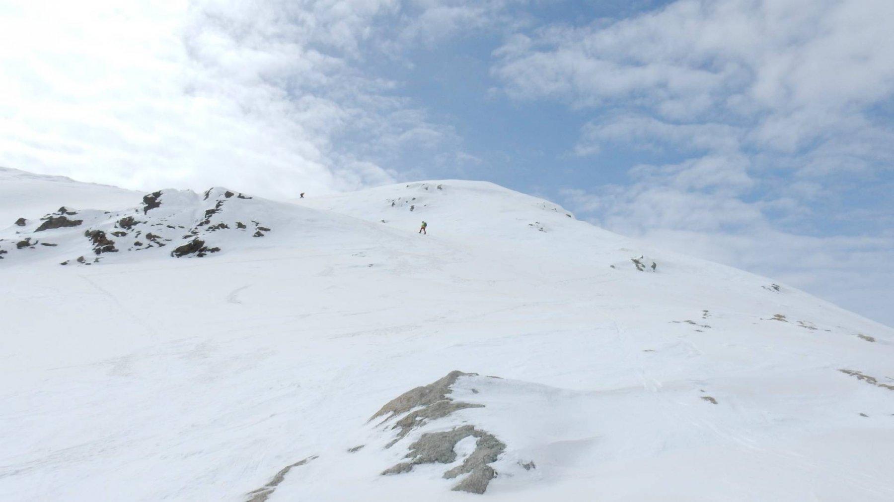 Ultimi metri prima della vetta del Piz Grevasalvas 2932mt.
