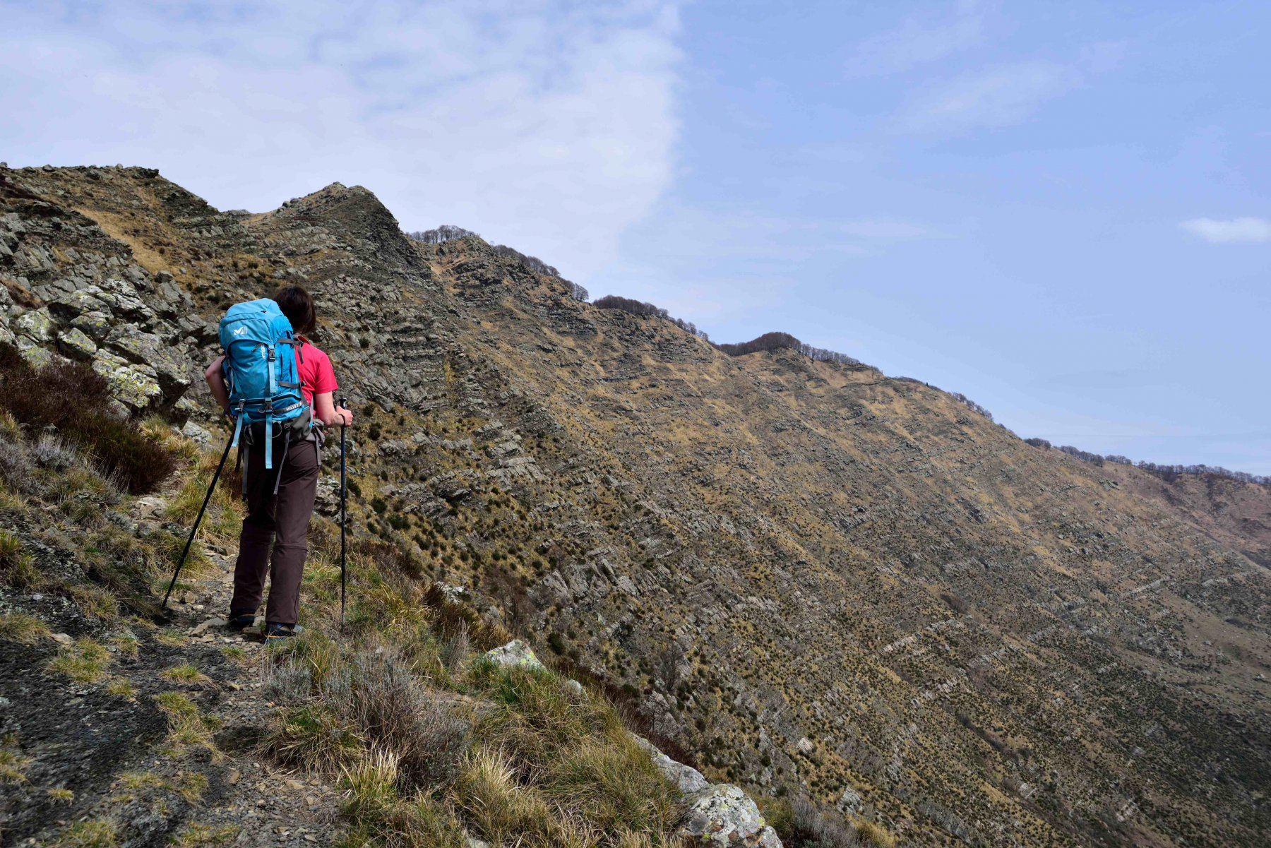 Risalendo la cresta sud del Ramaceto