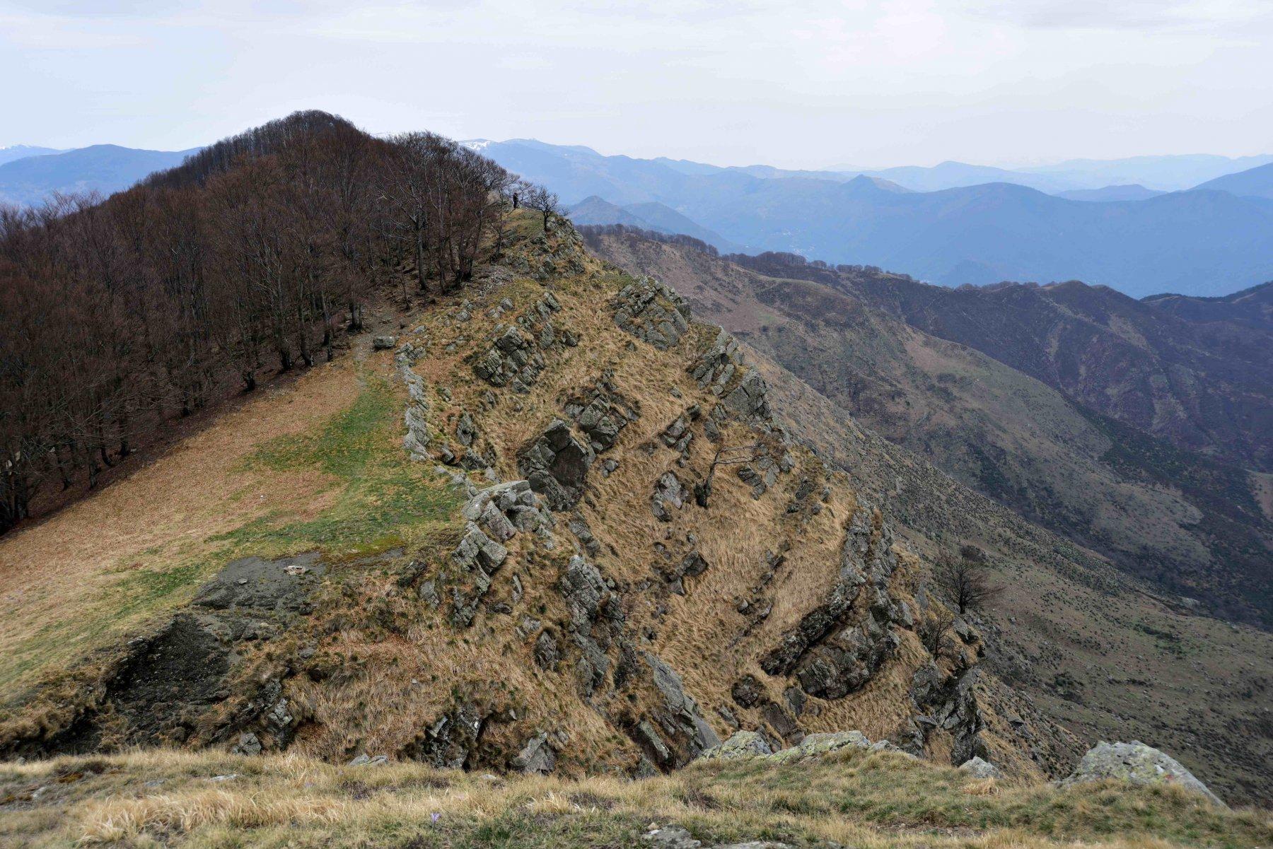 La cresta sommitale del Ramaceto vista dalla vetta ovest