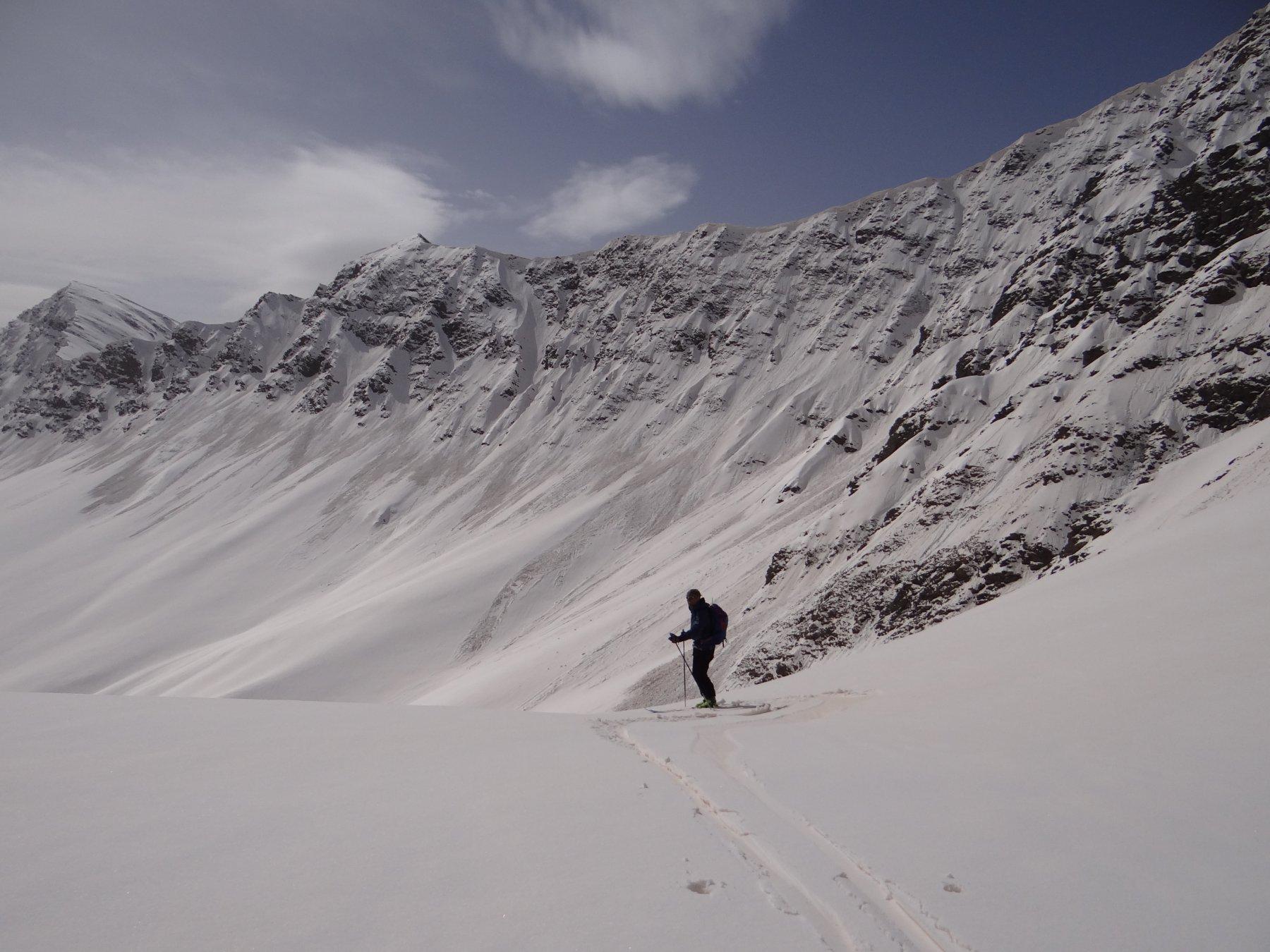 Distacchi diffusi sul versante nordorientale Faraut-Sebolet