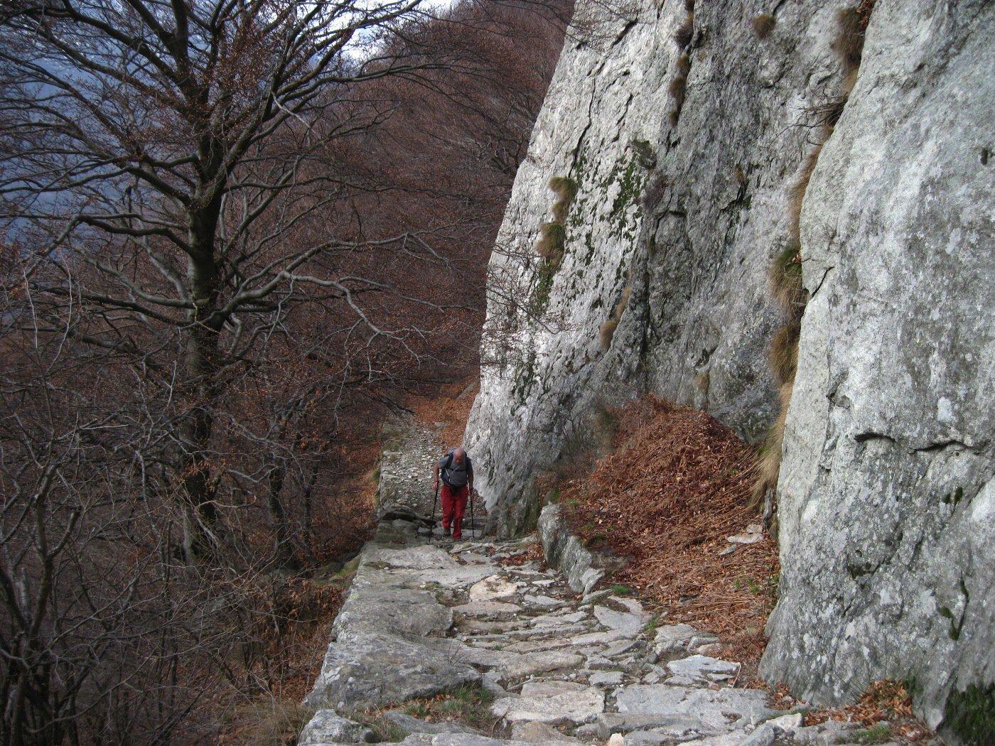 Ultimo tratto intagliato nella roccia