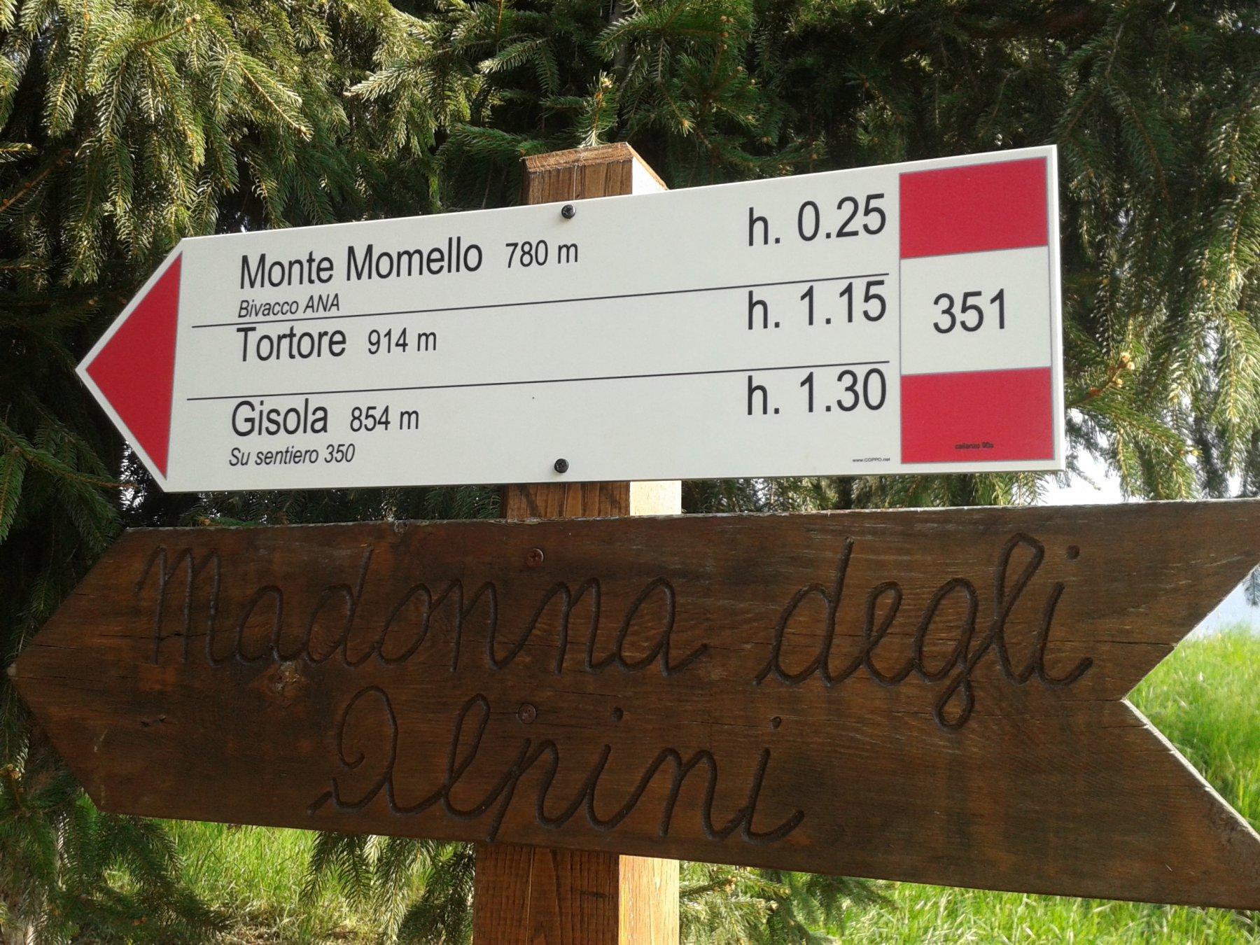 cartello direzione Gisola