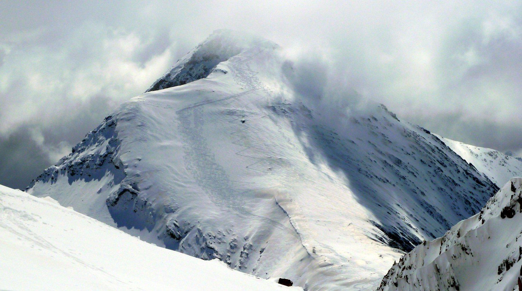 vista dello chaberton dalla cima