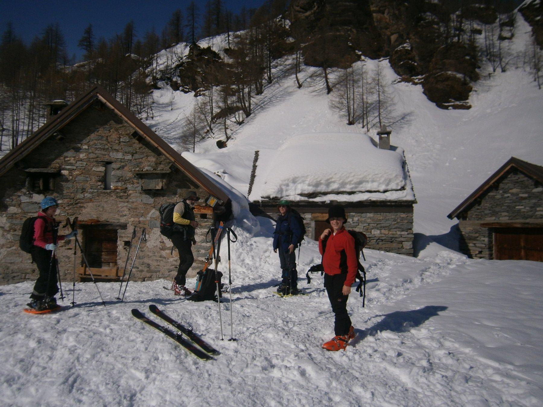 Sosta all'alpe Misanco - 1.900 m