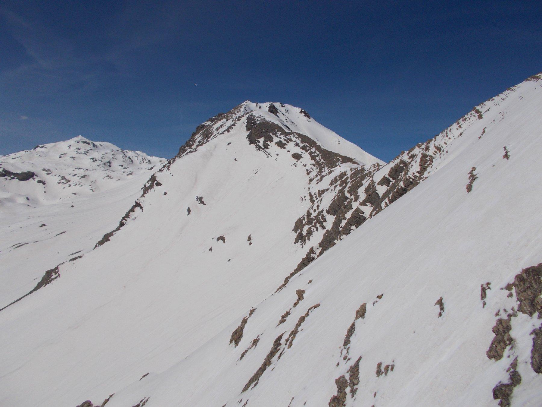 La Tete de Couleau..e a dx l'insellatura del Col de Mean..dalla cresta sud-est..