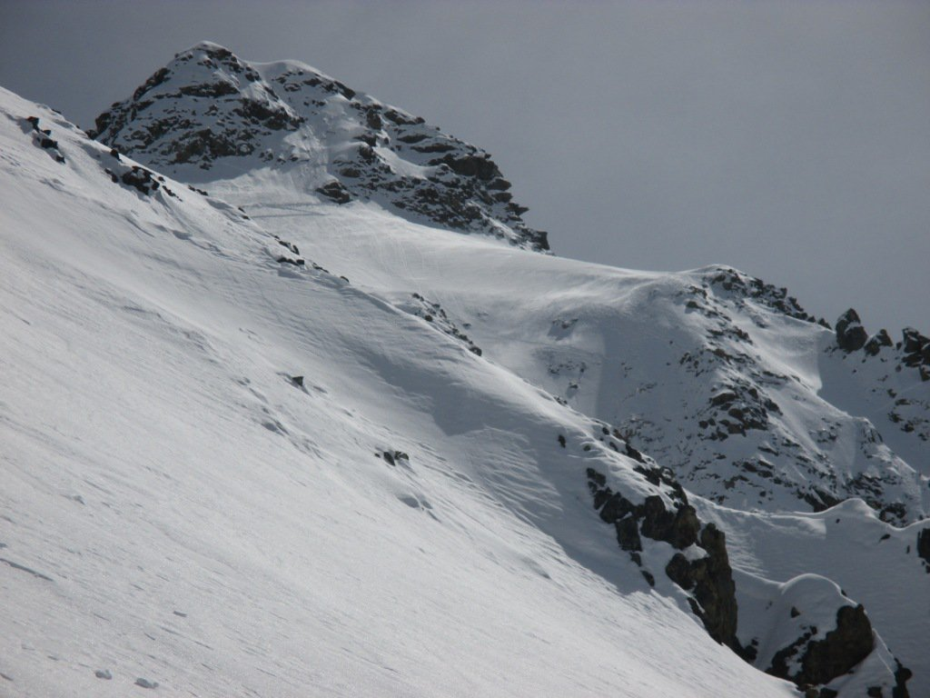 tornando verso il ghiacciaio uno sguardo alla Becca