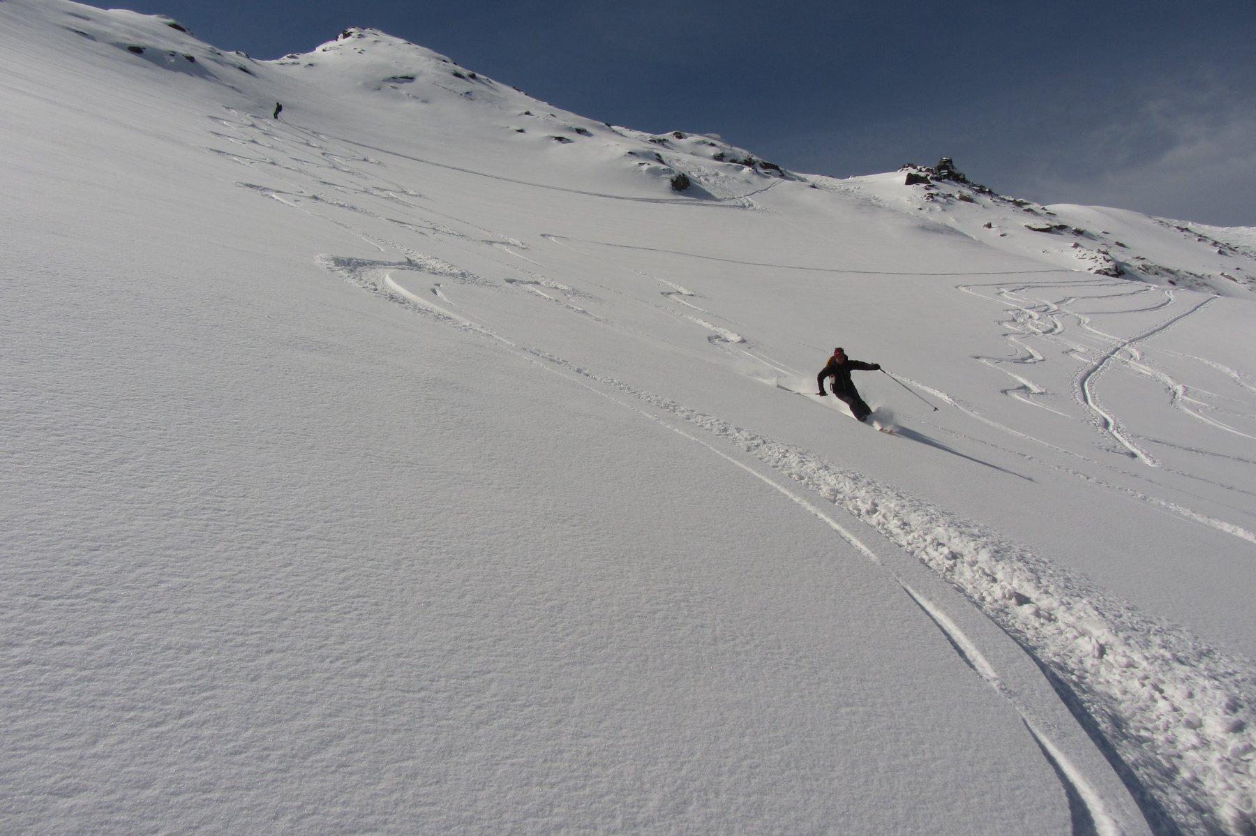 Polvere sul ghiacciaio di Tos