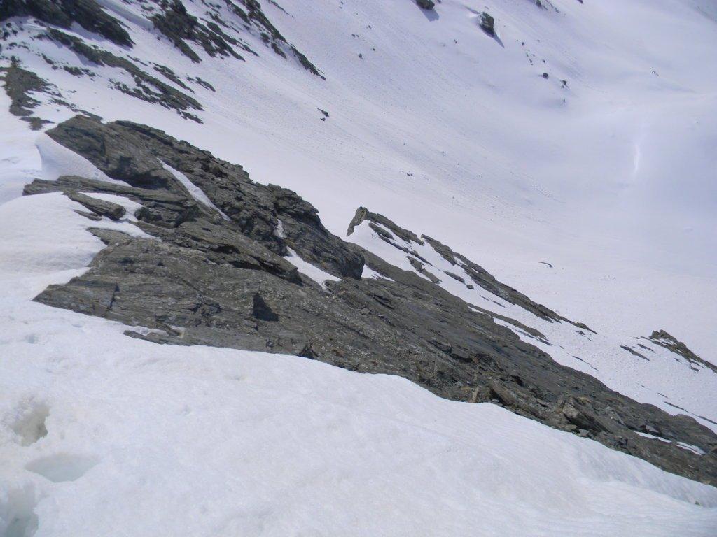 precarie condizioni nell'ultimo tratto sotto la cima