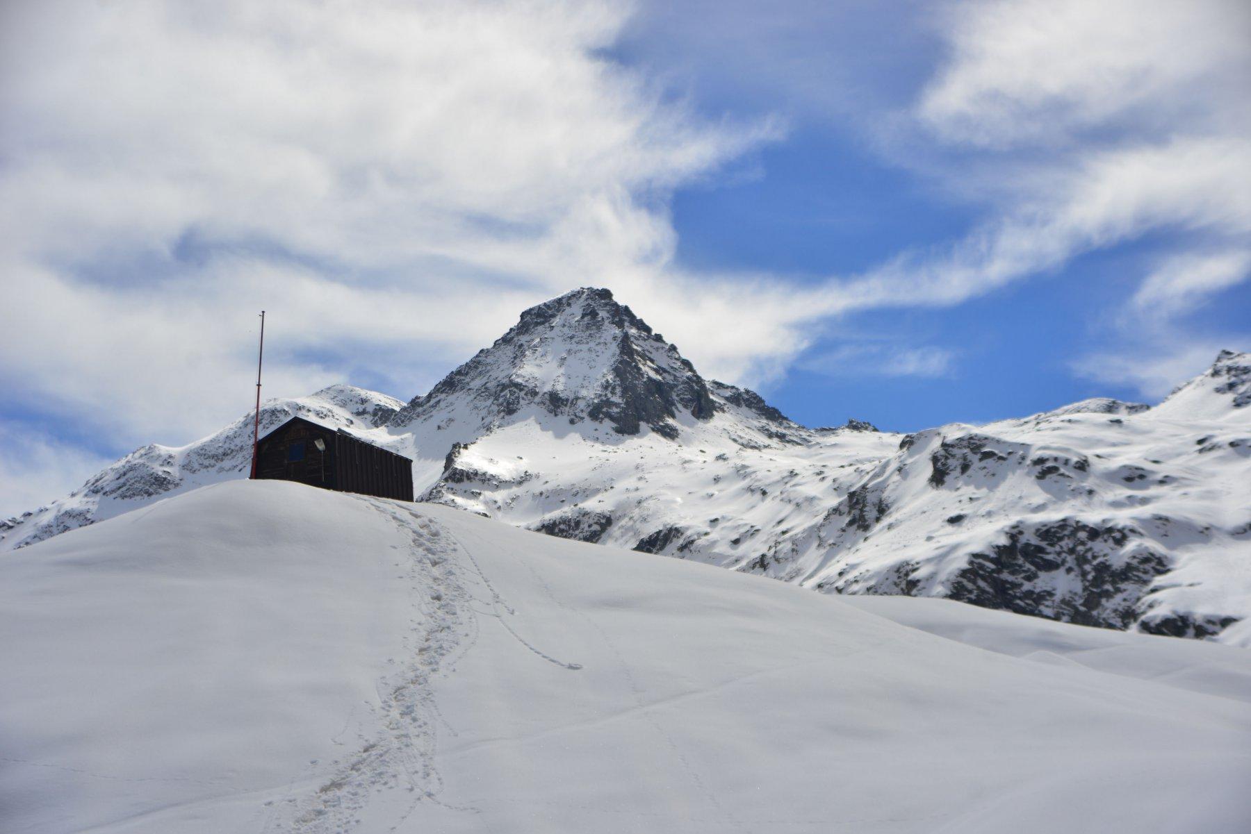 bivacco con monte Granero