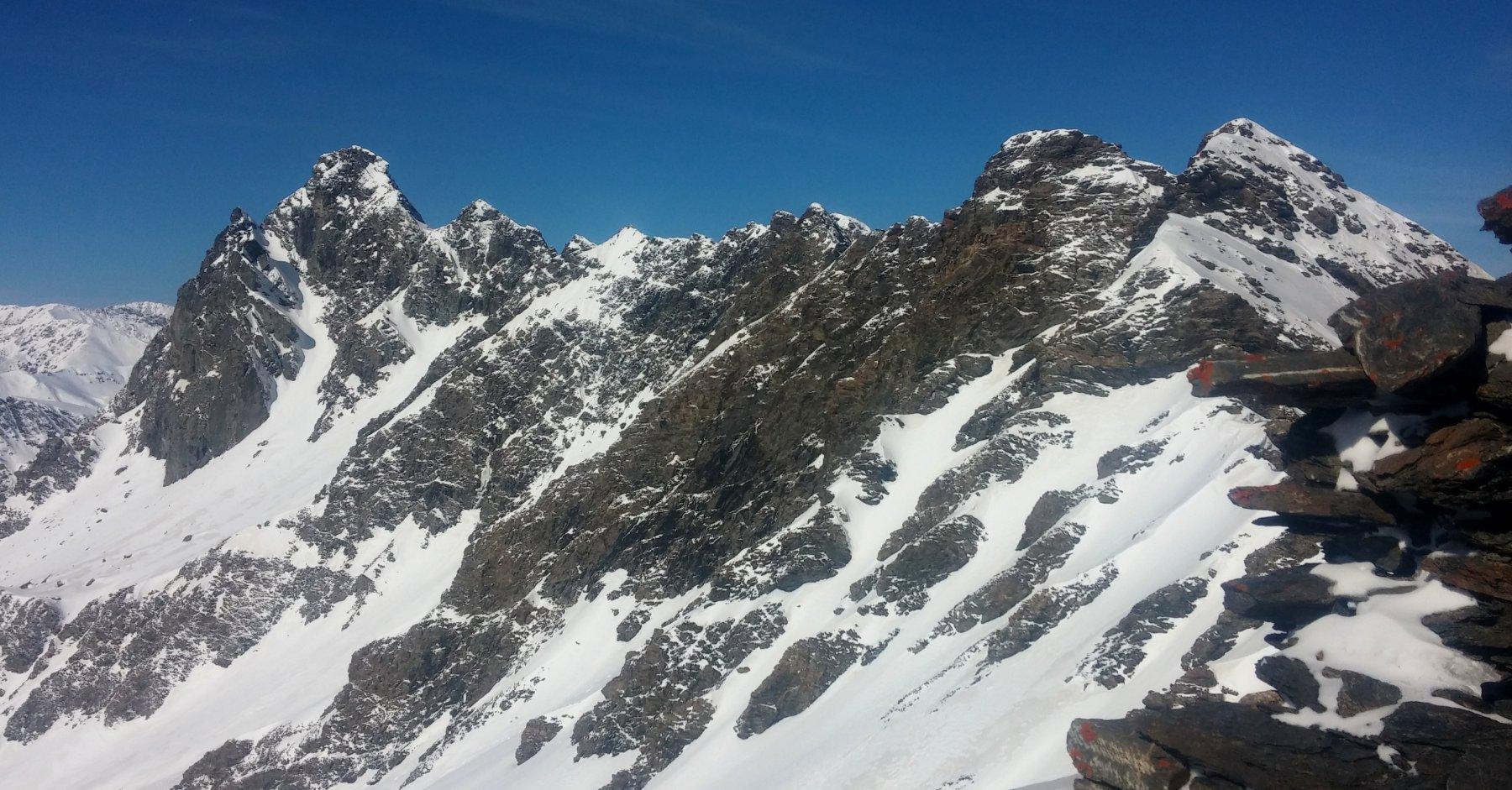 Vista dalla cima verso il Bucie