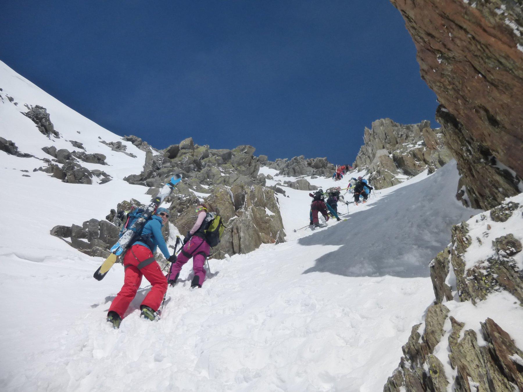 …in salita al Col du Passon...