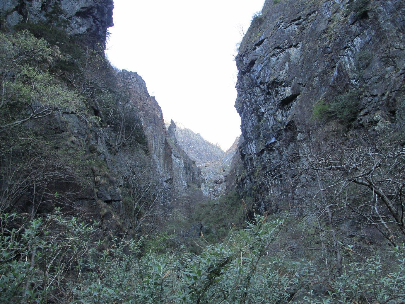 Prima parte della Valle di Nibbio, al centro è visibile la frana