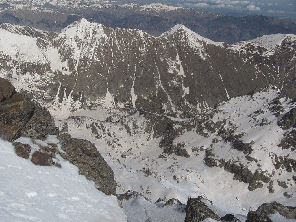 vista del rif Livio Bianco dalla vetta